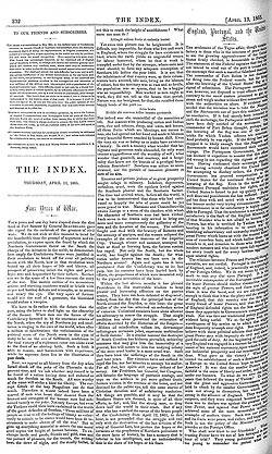 The Index – 13 April 1865